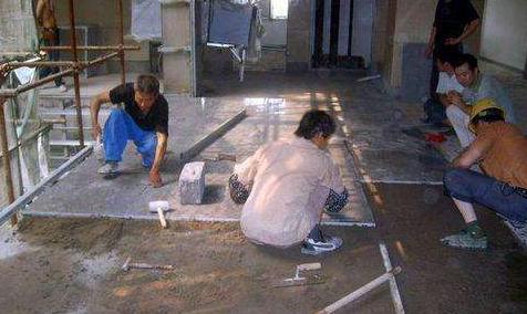 家居装修地面施工之如何铺设石材