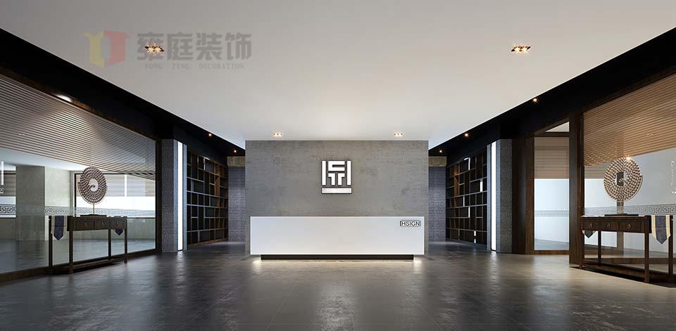 深圳科技园金融科技大厦办公室装修门厅效果图.jpg