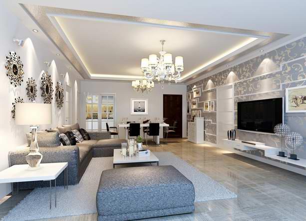 客厅天棚造型欧式