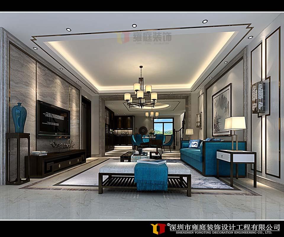 设计理念:本案装修风格追求华丽、高雅,典雅中透着高贵,深沉里显露豪华,具有很强的文化感受和历史内涵。该设计采用深色的色彩,以彰显浓郁的古典气息。室内多用带有图案的壁纸、地毯、窗帘、床罩、及帐幔以及古典式装饰画或物件。 为体现华丽的风格,家具、门、窗多漆成白色,家具、画框的线条部位饰以金线、金边。